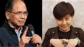游錫堃、「卡神」楊蕙如(組合圖/資料照)