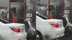 檳榔,西施,比基尼,台中,三點,氣溫,敬業 圖/翻攝加藤軍路邊隨手拍