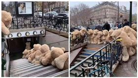 法國大罷工,泰迪熊罷工,翻攝自FB《Les nounours des gobelins》