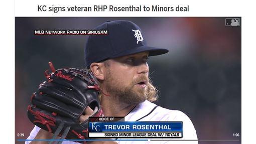 ▲前紅雀終結者羅森索(Trevor Rosenthal)小聯盟約投靠皇家。(圖/翻攝自MLB官網)
