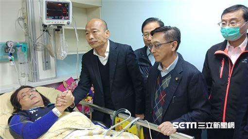 韓國瑜探病林奕華、陳玉珍 圖/韓國瑜辦公室提供