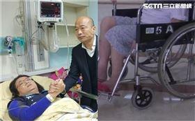 「立委夾到手就有病床」 他:癌母只能坐急診走廊苦等2天(合成圖/韓國瑜辦公室提供、資料照)
