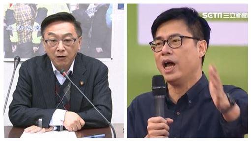 國民黨立委陳宜民,行政院副院長陳其邁。(資料照/組合圖)