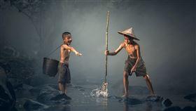 魚 少年 圖/pixabay
