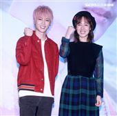 KU古曜威「一個幸福的吻」新歌發表,MV女主角黃瀞怡(小薰)分享拍MV的點滴滴。(記者邱榮吉/攝影)
