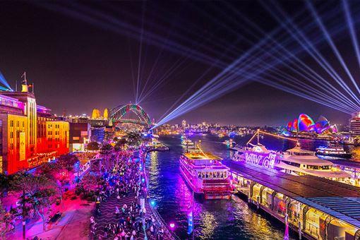 ▲Vivid Sydney繽紛雪梨燈光音樂節訂於2020/5/22-2020/6/13登場(圖/shutterstock.com)