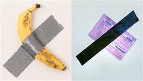 香蕉,紅單,膠帶,藝術,警局(翻攝自高雄市警局臉書)