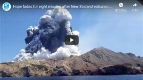 紐西蘭熱門觀光景點白島(White Island)9日火山爆發(youtube截圖)