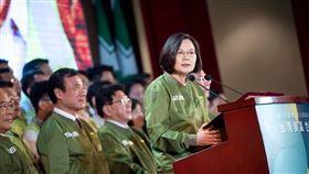 蔡英文,民進黨,競選外套(圖/翻攝自臉書)