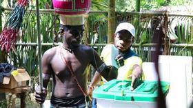 針對脫離巴布亞紐幾內亞獨立,布干維爾(Bougainville)民眾投票(2016年) 圖/美聯社/達志影像