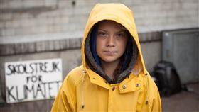 瑞典環保少女童貝里(圖)獲選「時代」雜誌2019年風雲人物,時代雜誌總編輯費森塔爾表示,她體現年輕人的行動主義。(圖取自twitter.com/GretaThunberg)