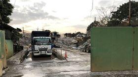 台北市延平北路七段工地發生意外(翻攝畫面)