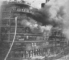 1932年日本東京白木屋百貨火災,翻攝自網路