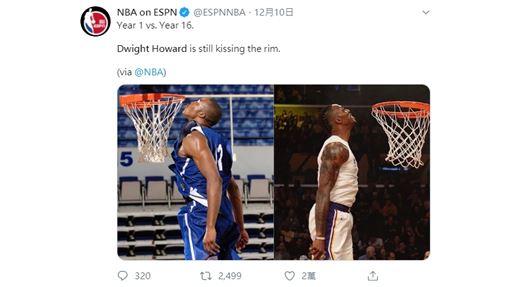 ▲34歲『魔獸』霍華德(Dwight Howard)彈性不減。(圖/翻攝自NBA on ESPN)