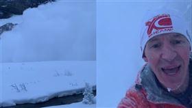 雪崩,淡定,加拿大,自拍,遇難,慢跑,紀錄,雪,保暖,脫險, 圖/翻攝自YouTube