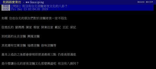 台北,宵夜,涼麵,夜店,文化,PTT 圖/翻攝自PTT