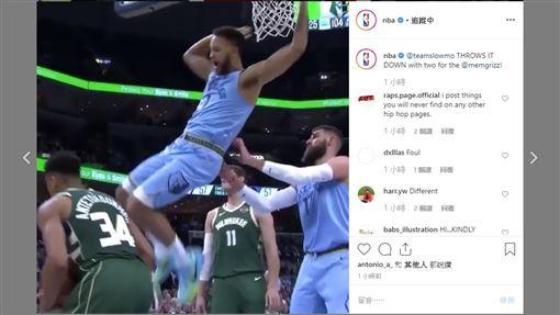 ▲安德森(Kyle Anderson)顏扣『字母哥』安戴托昆波(Giannis Antetokounmpo)。(圖/翻攝自NBA IG)