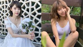林明禎參加真人秀節目首次穿婚紗亮相。(圖/種子音樂提供)