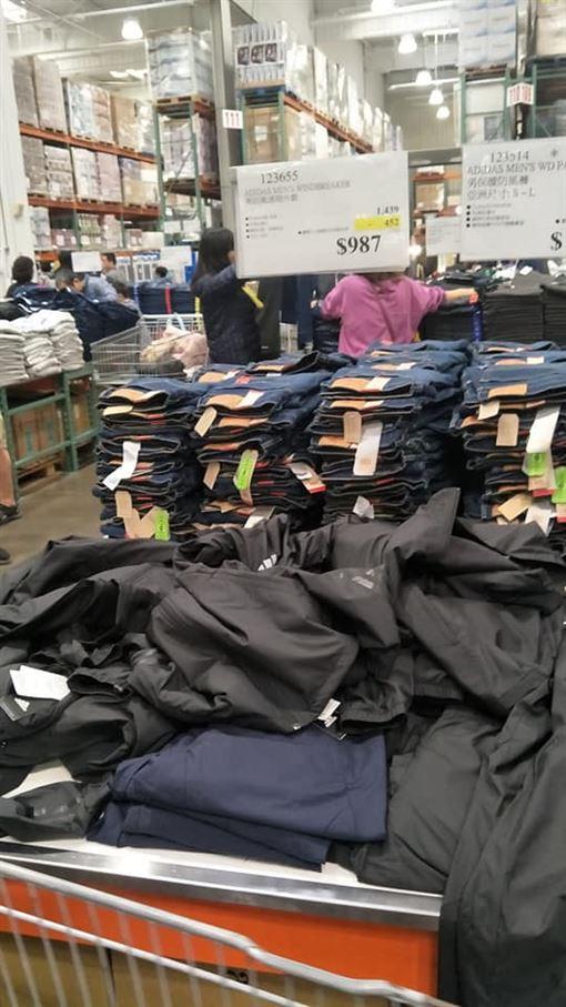 好市多,Costco,鋪棉防風外套,adidas,愛迪達,特價(圖/翻攝自Costco好市多 商品經驗老實說)