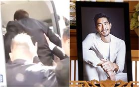 高以翔爸爸被攙扶上車(圖/翻攝自會火微博、記者林聖凱攝影)