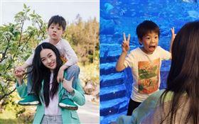 霍思燕的兒子「嗯哼」(杜宇麒)7歲開始掉牙。霍思燕微博