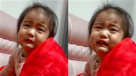 女童被臭屁薰哭(圖/翻攝自梨視頻) http://www.pearvideo.com/video_1632603