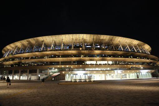 東奧主場館 21日辦啟用典禮2020年東京奧運暨帕運主場館國立競技場11月30日完工,12月15日舉行竣工典禮,21日晚上將舉行啟用典禮,邀海內外知名運動員出席並安排文化表演活動。中央社記者楊明珠東京攝 108年12月15日