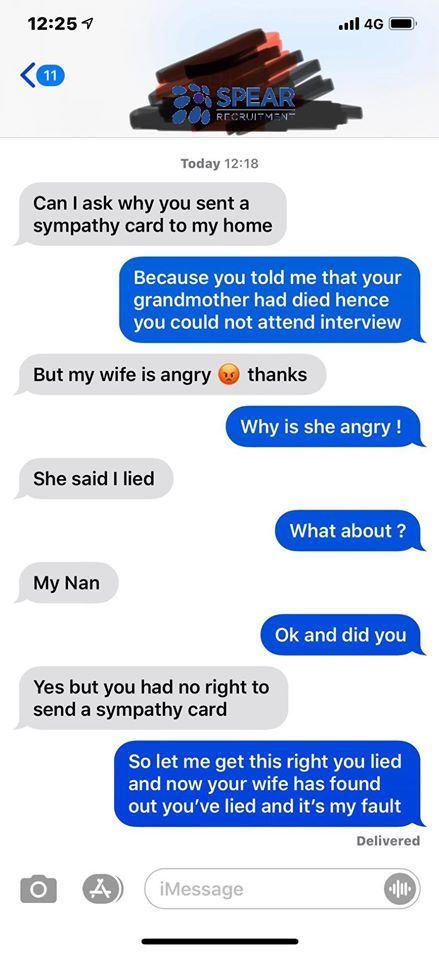 沒去面試!他騙公司「嬤過世」 CEO寄慰問信…妻氣炸了(圖/翻攝自臉書)