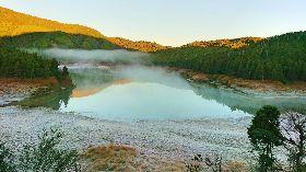 宜蘭太平山翠峰湖畔結霜