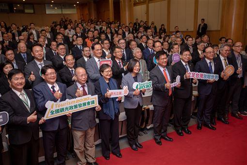 蔡英文總統16日上午出席「全國觀光政策發展會議開幕」。(圖/總統府提供)