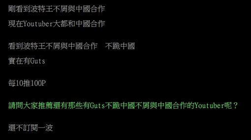 波特王,中國,館長,博恩,骨氣(合成圖/翻攝自PTT)