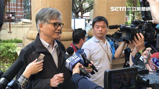 曾參加2018年台北市長選舉的吳萼洋,到高等法院關心丁守中的選舉無效之訴結果。(圖/記者楊佩琪攝)