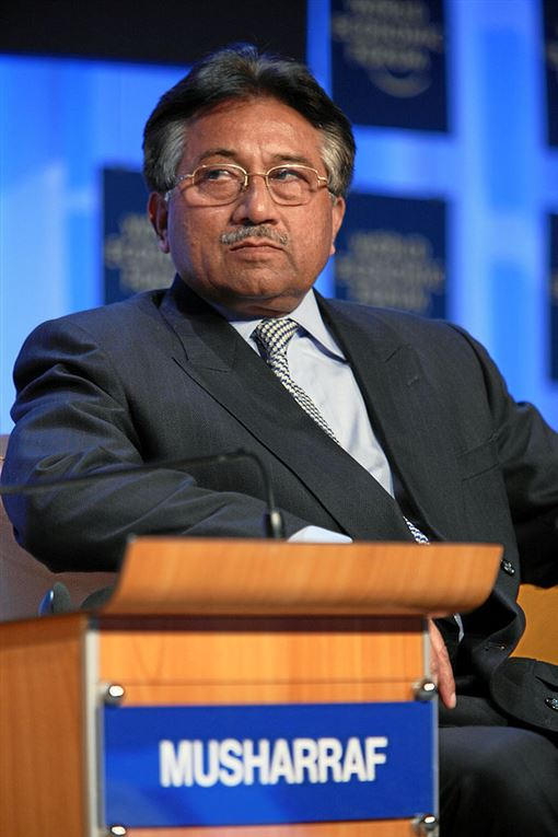 巴基斯坦前總統穆夏拉夫(Pervez Musharraf)依叛國罪名被判死刑。(圖/翻攝自維基百科,作者World Economic Forum)https://www.flickr.com/photos/15237218@N00