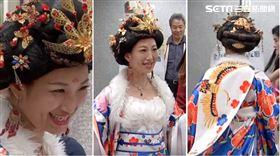 王斯儀盛裝打扮成唐代女皇「武則天」到場抽籤