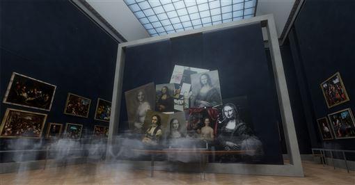 蒙娜麗莎,故宮南院,VR展示,科技解密,時空光河(圖/故宮提供)中央社