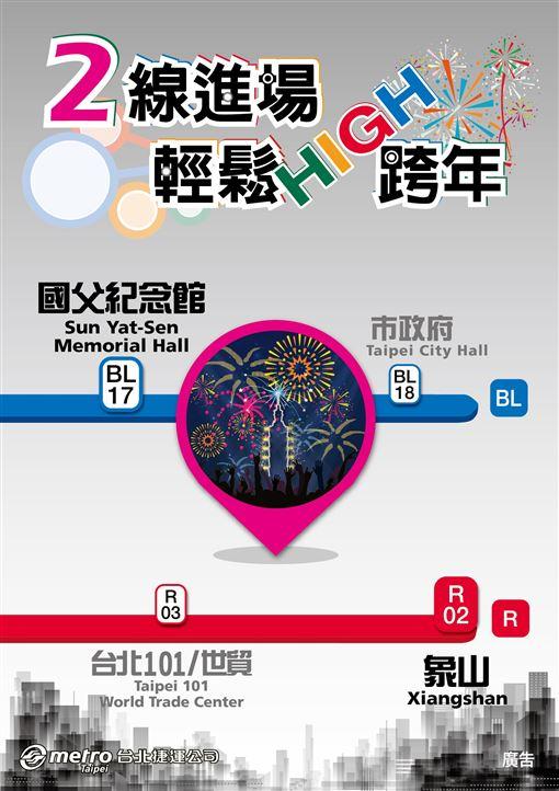 2019,2020,台北捷運,跨年,元旦,101煙火圖/北捷提供