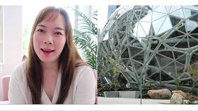 亞馬遜(Amazon)女性軟體工程師分享工作經驗。(圖/翻攝自Lucia的美國工作雜記YouTube)