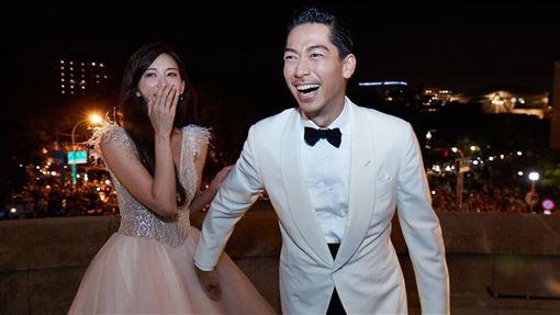 AKIRAPO出婚禮當天的天台視角影片。 林志玲和AKIRA世紀婚禮。(圖/翻攝自臉書)
