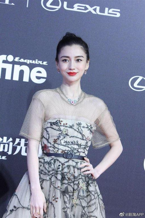 Angelababy(楊穎)出席大陸時尚先生盛典(翻攝微博)