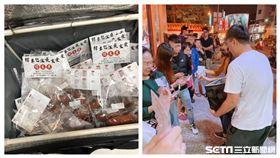熱心老闆挺罷韓送上百份香腸給現場排隊領貼紙的民眾。(圖/網友尹托托授權提供)