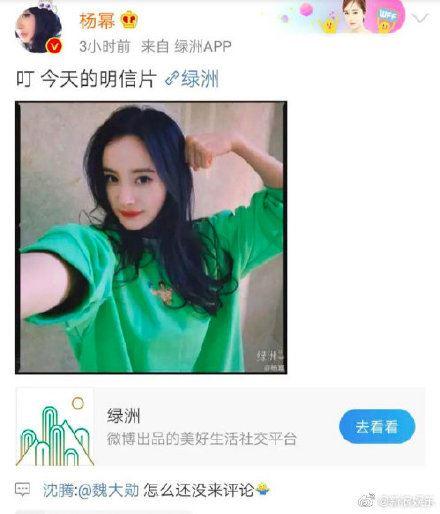 楊冪(翻攝自新浪娛樂微博)