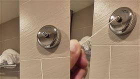 飯店,浴室,裝置,用途,曬衣繩 圖/翻攝爆廢公社