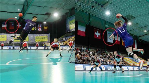 ▲2019國際巧固球賽香港賽前抗議,台灣隊改名中華台北撤國旗換上會旗。(圖/翻攝自推特)