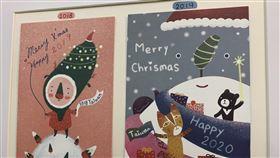 3孩媽扮台灣耶誕老公公 自製卡片回覆全球來信有3個小孩的Cathy扮台灣耶誕老公公,還發揮藝術專長,以自製卡片回覆全球來信,每年卡片都不一樣,但卡片一定有包含台灣特色和本島「番薯」地形的圖樣,讓國外小朋友更了解台灣。中央社記者葉臻攝 108年12月21日