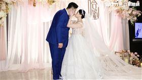 藝人哈孝遠與愛妻瑄瑄今(22日)於寒舍艾麗酒店舉行婚宴。圖/記者林聖凱攝影