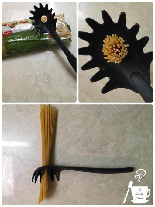義大利麵勺,圓洞,量尺,份量