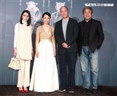 陳怡蓉(左)出席柴智屏女兒婚宴。(記者邱榮吉/攝影)