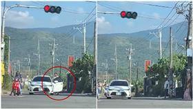 紅燈太長?她見駕駛下車做這事…呆問:我到底看到了什麼(圖/翻攝自爆廢公社)