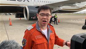 張國煒駕A321neo 二號機(2號機)回台 桃機畫面 記者陳啟明攝影