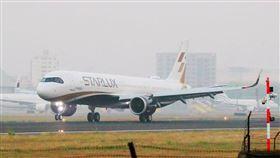 星宇航空,張國煒,二號機抵達小港機場,讀者提供